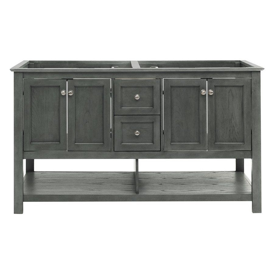 Fresca 60 Inch Manchester Double Sink Vanity Without Top Gray Wood Veneer Fcb2360vg D In 2020 With Images Vanity Sink Double Sink Vanity Grey Wood