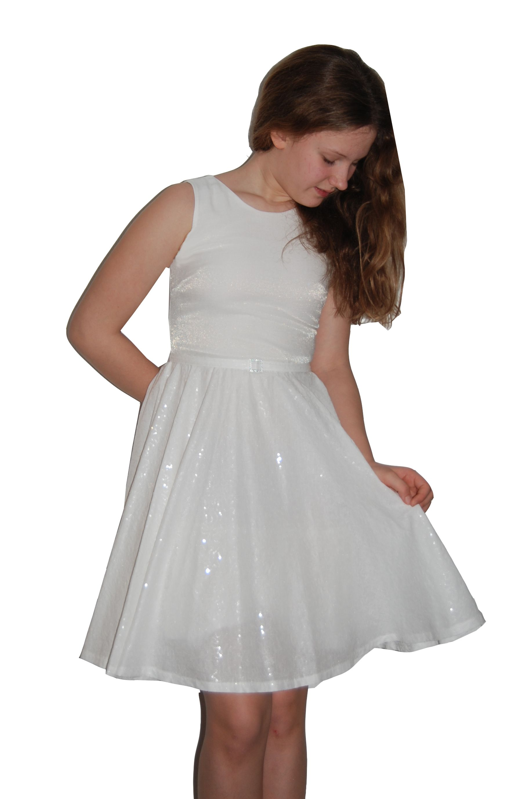 Edles #Kommunionkleid, #Blumenmädchen Kleid aus #Baumwolle, 3/4 ...