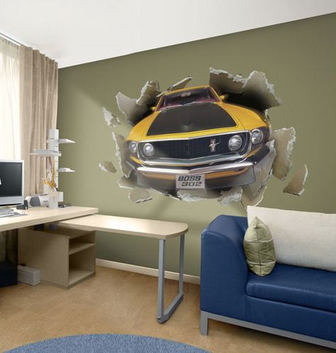 1969 Mustang peel and stick wall mural