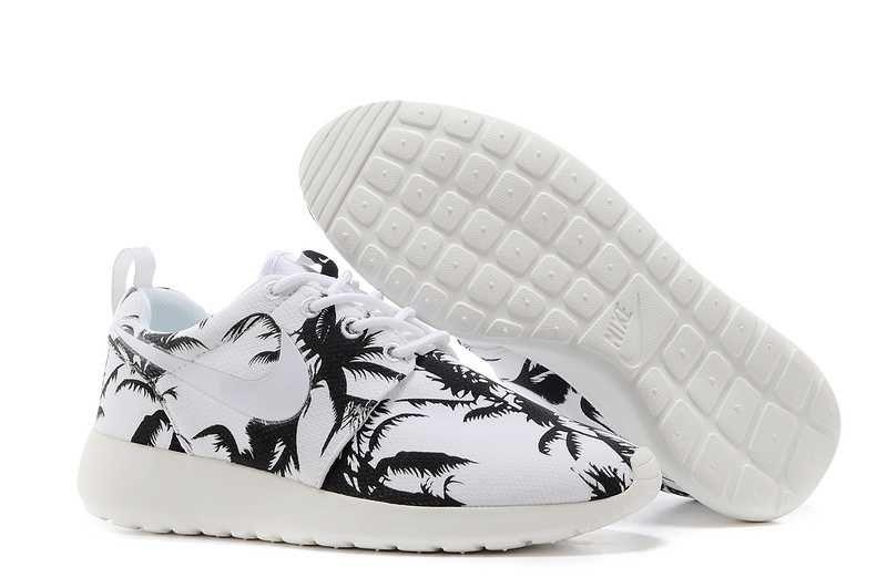 For Nice Nike Roshe Run Pattern Womens Palm Trees Black White