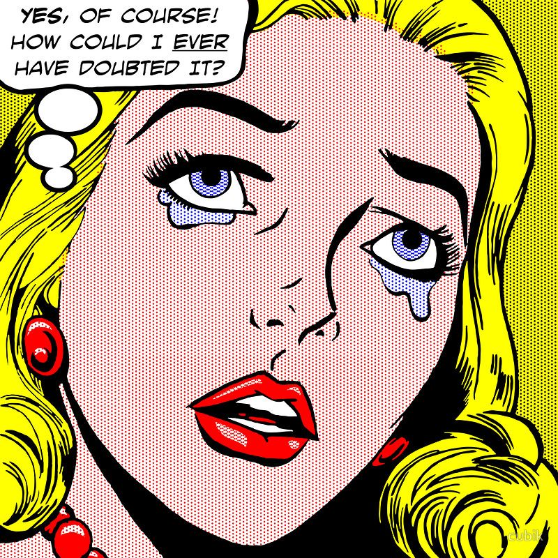 comic book style pop art lichtenstein style illustration. Black Bedroom Furniture Sets. Home Design Ideas