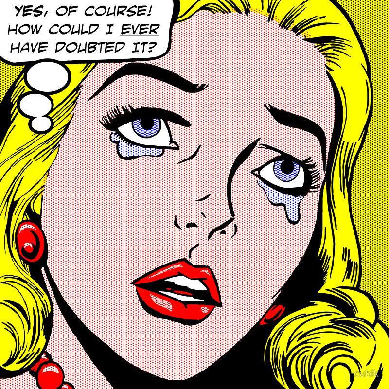 Comic book style pop art lichtenstein style illustration - Cuadros pop art comic ...