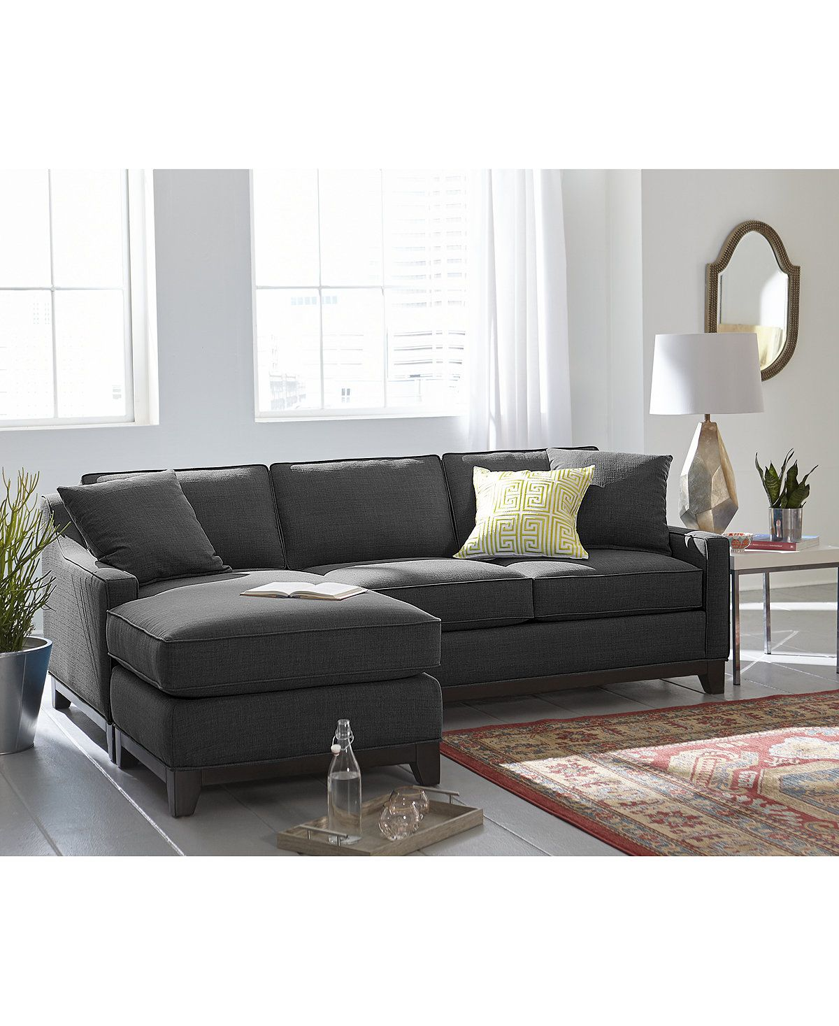 Keegan fabric 2 piece sectional sofa couches s 699