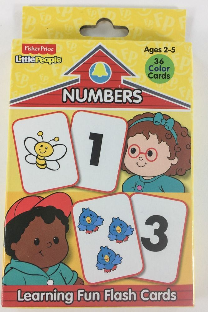 fisher price numbers flashcards for preschool and