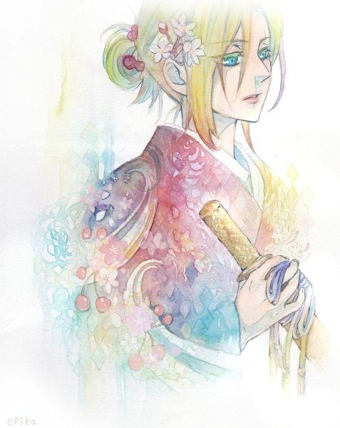 She looks good in a kimono.