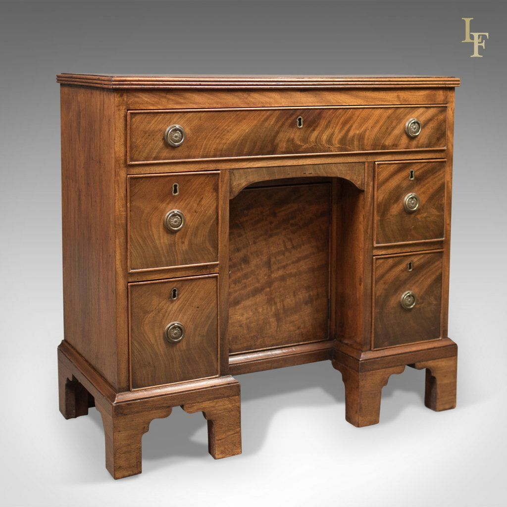 Antique Kneehole Desk, Victorian Knee Hole c.1870 - Antique Kneehole Desk, Victorian Knee Hole C.1870 Pinterest