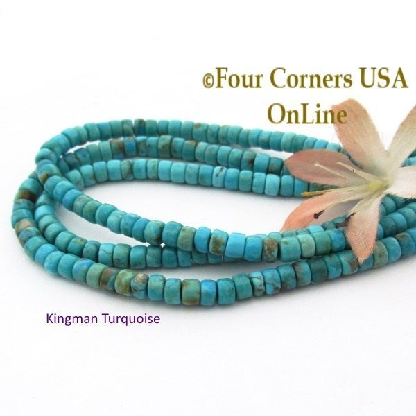 turquoise usa jewelry online corners four making kingman supplies heishi beads strands bead