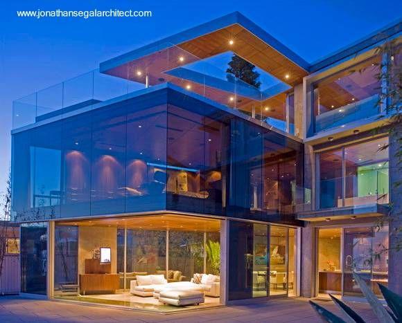 Moderna casa residencial de estilo contempor neo como caja for Estilos de casas contemporaneas
