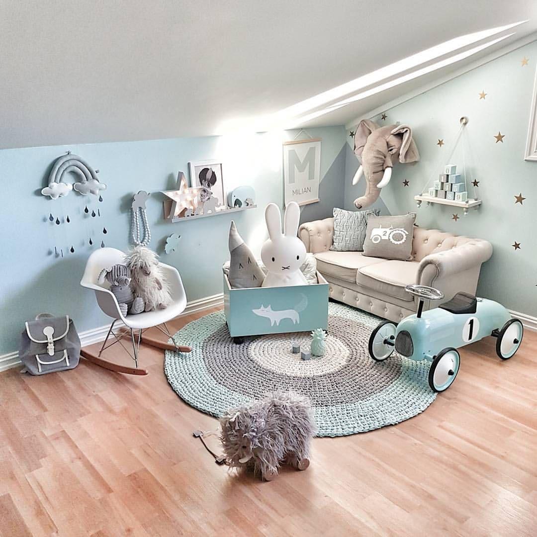 Chambre d\'enfant en mint et gris ! | Chambre enfant, Chambre ...