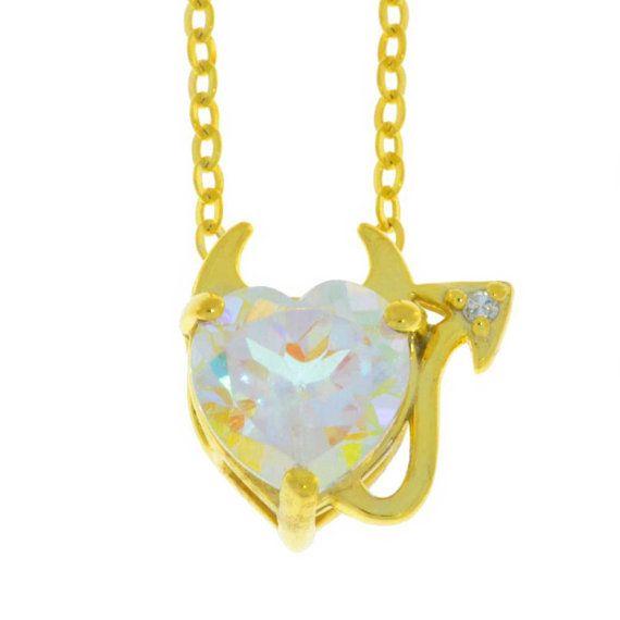 14Kt Yellow Gold Plated Mercury Mist Mystic Topaz /& Diamond Heart Mom Pendant