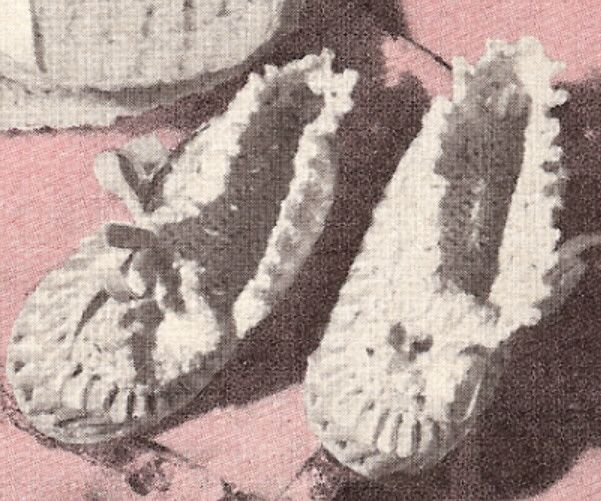 Vintage Antique Crochet PATTERN to make Filet Baby Soft Shoes Booties FiletBaby