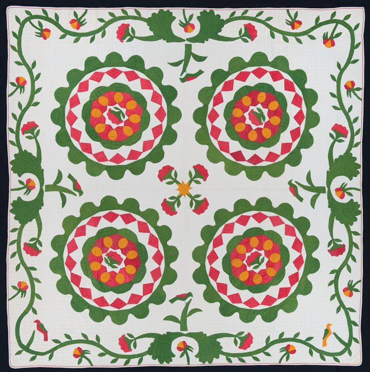 Pa..1855 | Antique Quilts and pieces | Pinterest