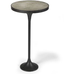 Kagan Industrial Loft Round Cast Iron Drink End Table Drink tables