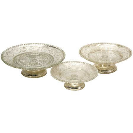 For displaying jewelry - 3 piece Irene Cake Stand Set from the 55th Street Designs event at Joss and Main!