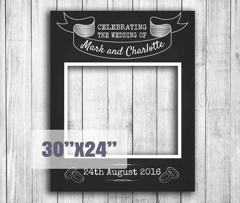 Chalkboard Wedding Photo Booth Frame Prop, printable prop diy ...