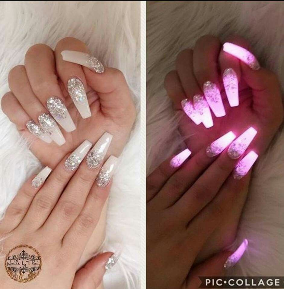 Glow in the dark.   nail art \