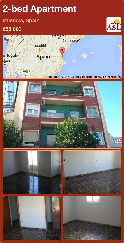 2 Bed Apartment In Valencia, Spain ▻u20ac55,000 #PropertyForSaleInSpain