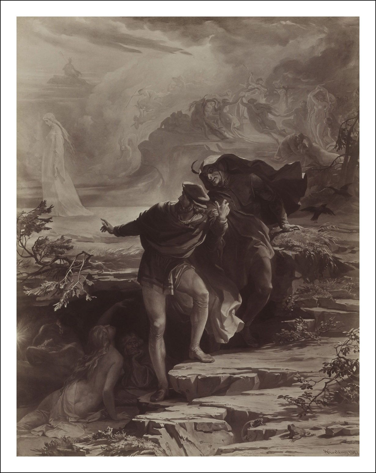 Johann Wolfgang Von Goethe Libros Faust A Tragedy Illustrated By Prof August Von Kreling