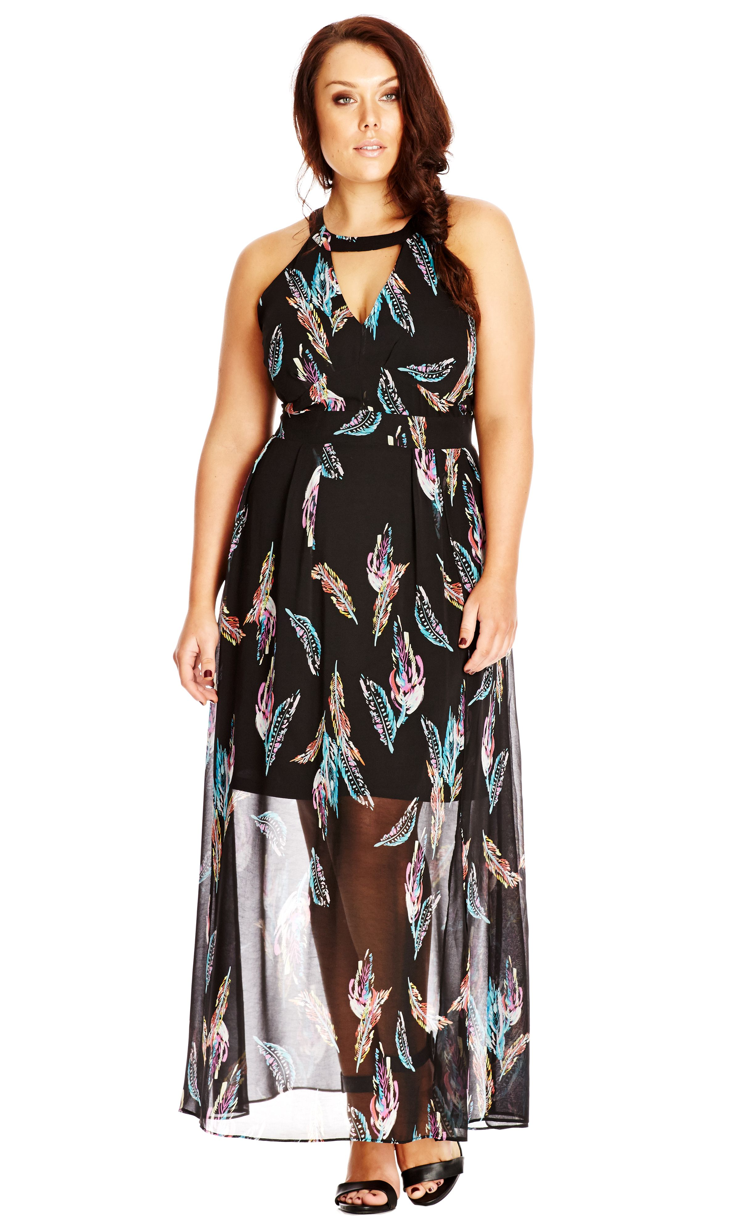 e776268ad481 City Chic Multi Feather Maxi Dress - Women s Plus Size Fashion City Chic -  City Chic Your Leading Plus Size Fashion Destination  citychic   citychiconline ...