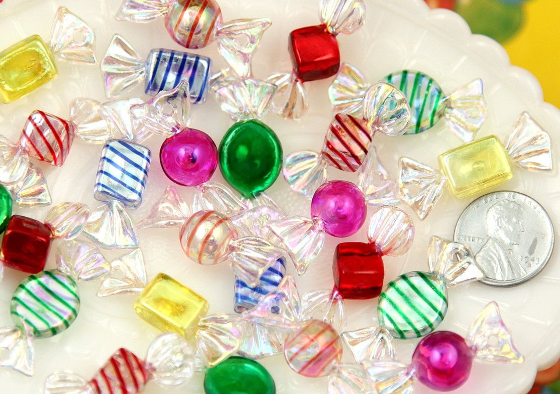 10mm tiny and delicate candy charms plastic or acrylic pendants 10mm tiny and delicate candy charms plastic or acrylic pendants mini candies 6 pc mozeypictures Gallery
