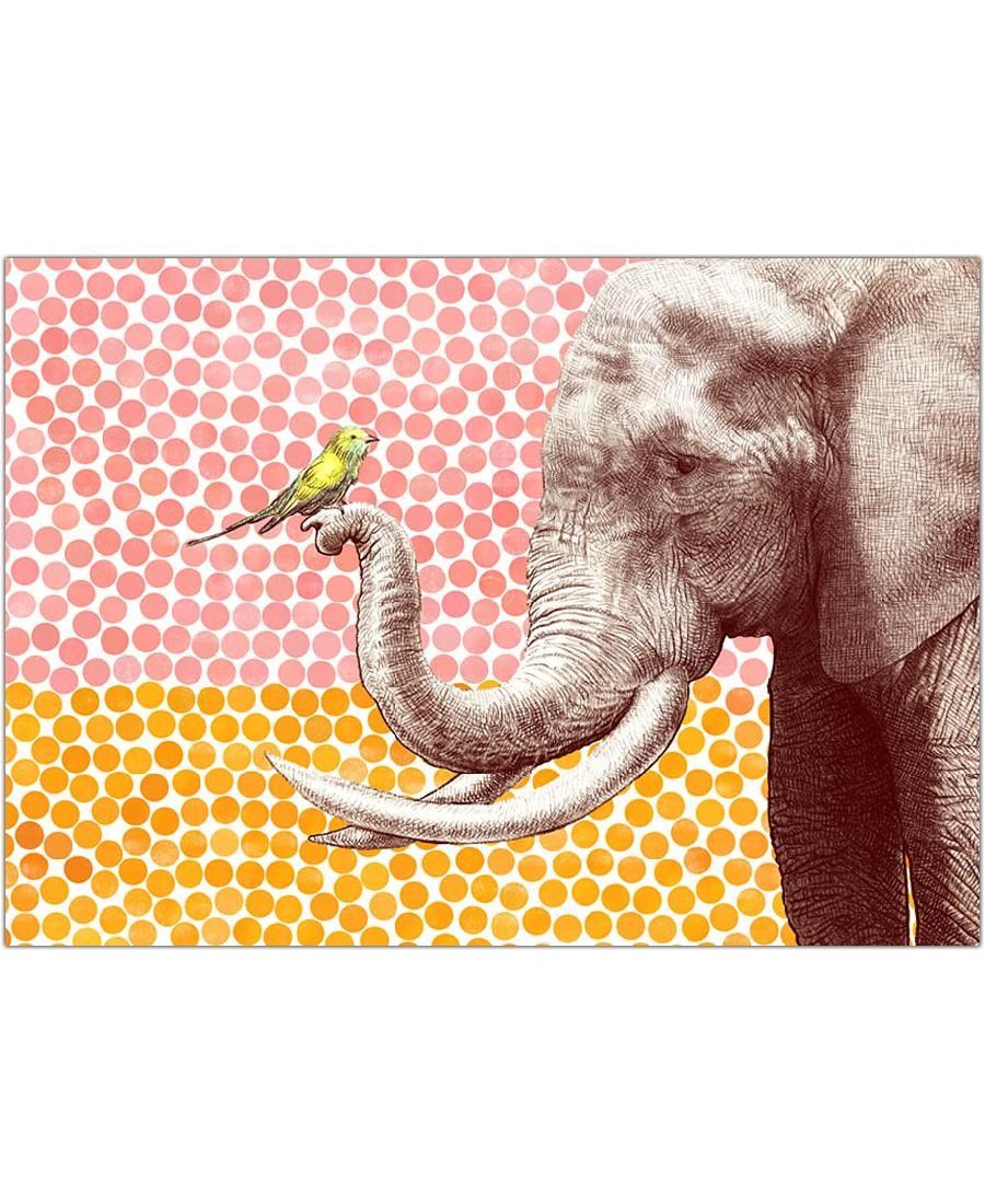 Elephant and Bird VON Eric Fan now on JUNIQE!