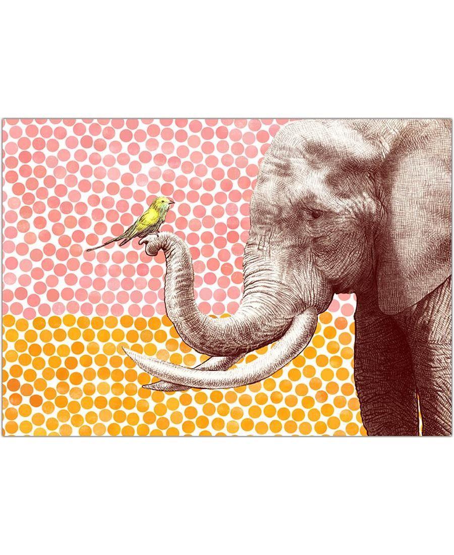 Elephant and Bird VON Eric Fan now on JUNIQE!