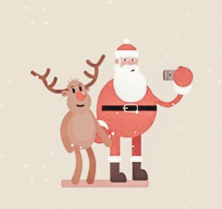 Santa And Rudolph Book Background Santa Art