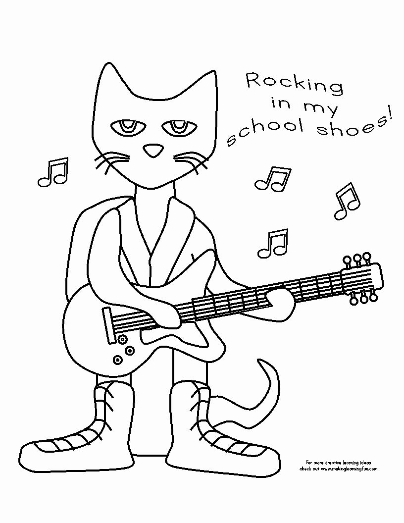 Pete The Cat Coloring Page Inspirational Pete The Cat Rocking In My School Shoes In 2020 Pete The Cat Shoes Pete The Cats Pete The Cat