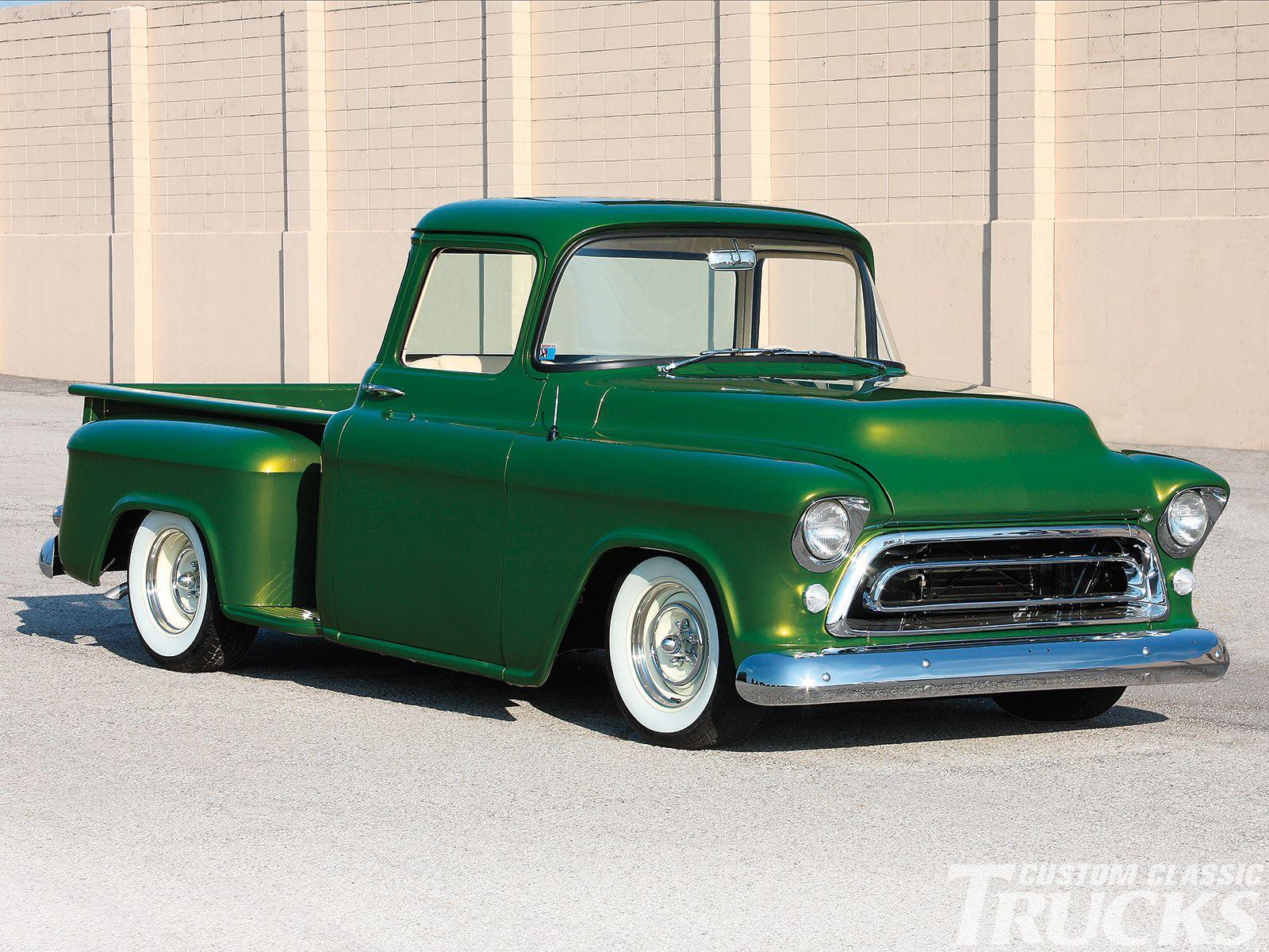 1956 Chevy Truck Emerald Beauty Custom Classic Trucks Magazine