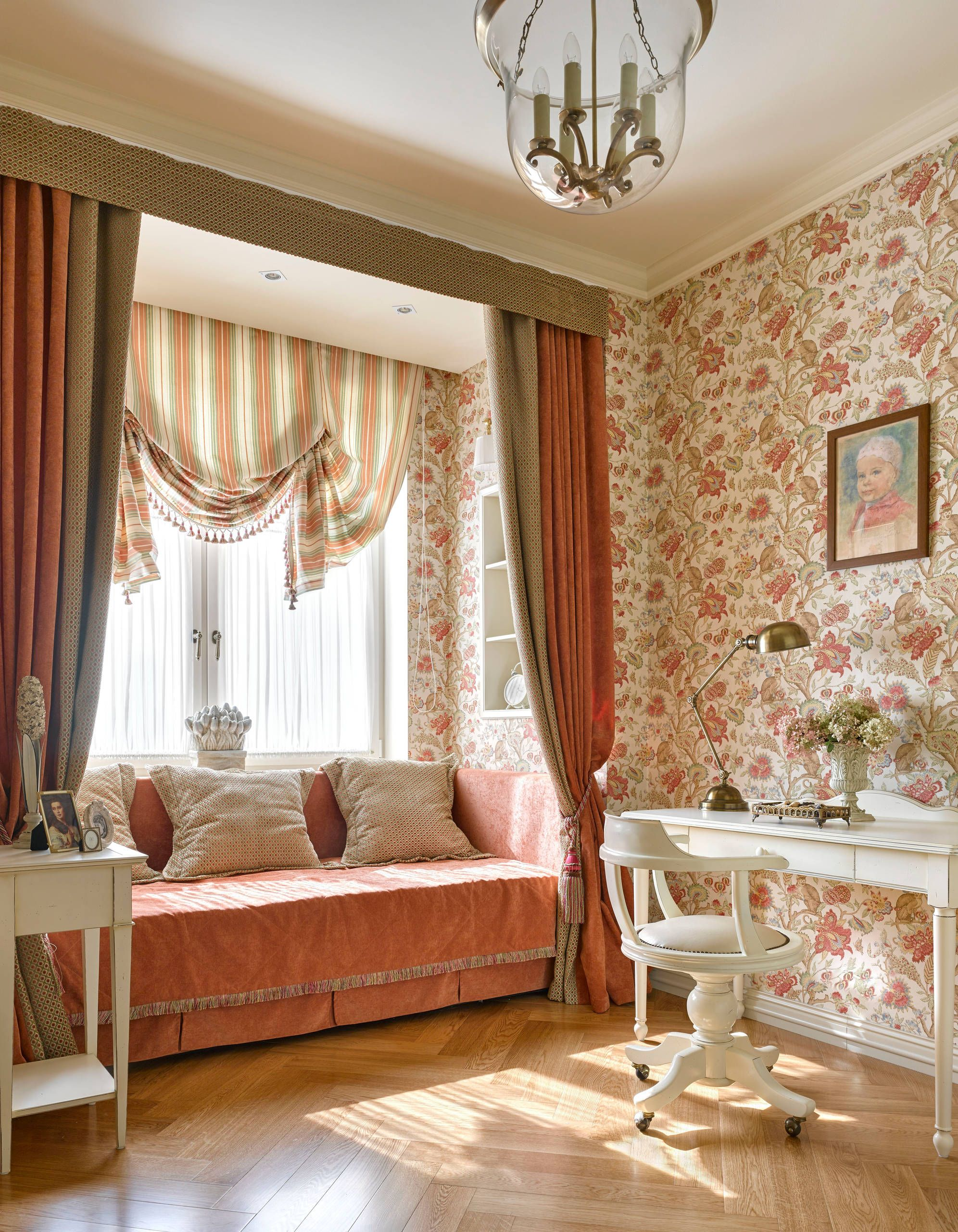 шторы для гостиной в английском стиле фото вас