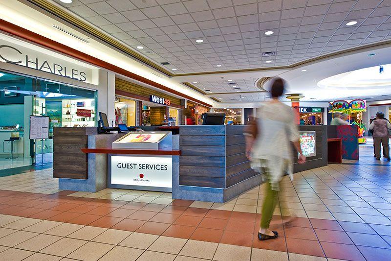 Orchard Park Shopping Centre Design Guest Services Kiosks Kiosk Design Interior Design Work Guest Services