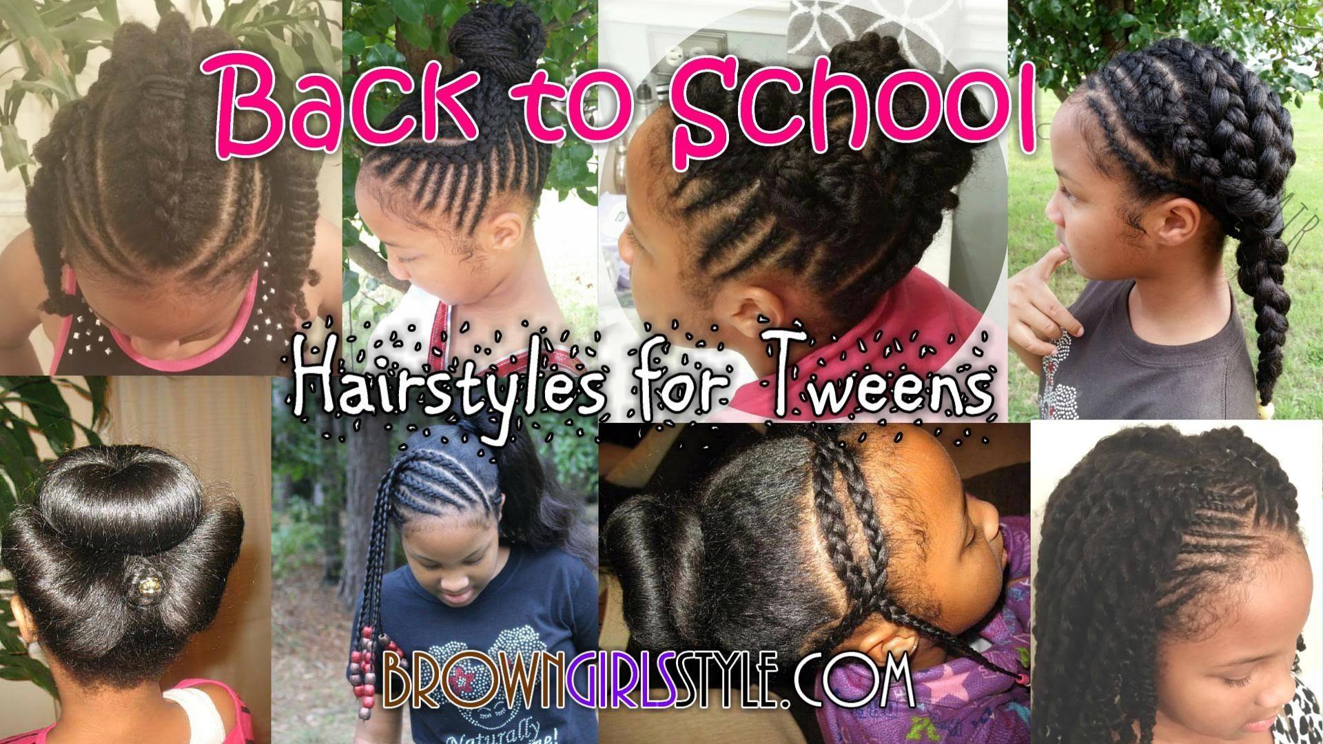Pre Teen Tween Back To School Natural Hairstyles For Girls