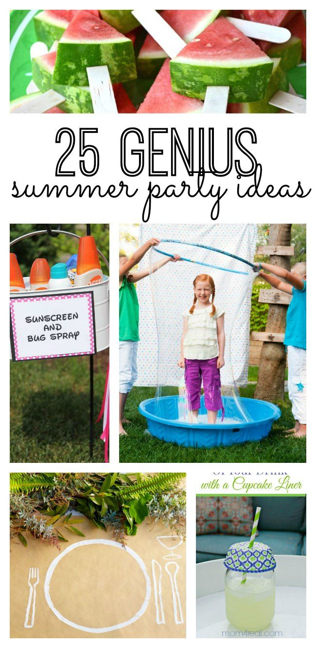 If Youre Planning On Hosting A Summer Party You Will Love These 25 Genius DIY Ideas From Decor To Desserts This List Includes