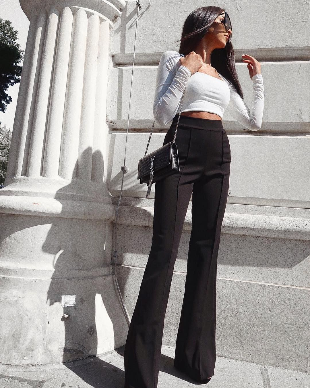 Pin By Amanda Williams On Fashion High Waisted Dress Pants High Waist Fashion Fashion [ 1350 x 1080 Pixel ]