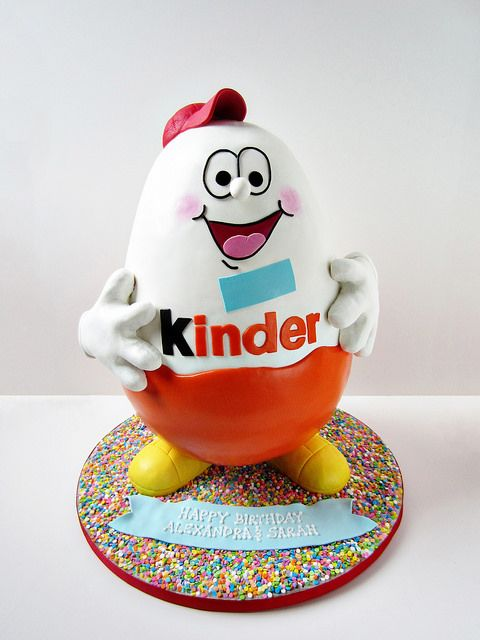 3d Kinder Surprise Cake Www Loveandsugarbakeshop Com