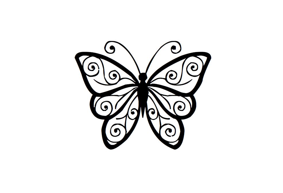 Imagens De Borboletas Para Tatuagem Desenhos De Linha Flor