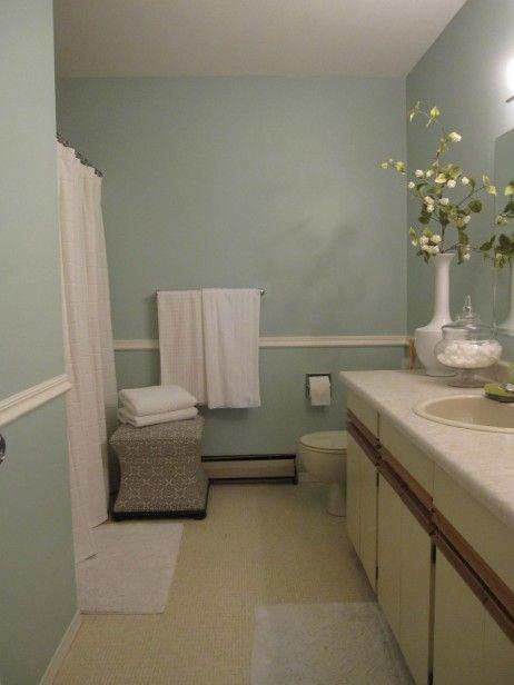 Maria S Main Bathroom Before Amp During Gray Bathroom