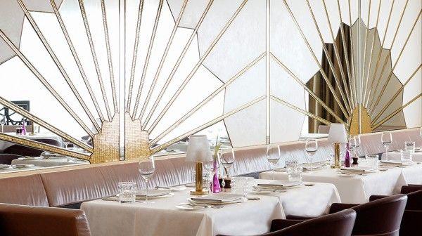 Art Deco   Wall Mirror   Table Linen   Restaurant Design ...