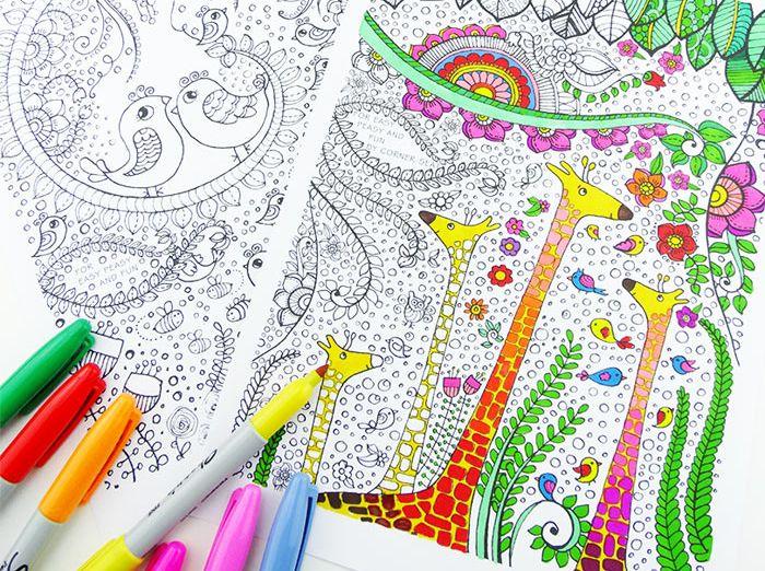 Hojas para colorear que puedes imprimir | Jirafa, Colorear y Pájaro