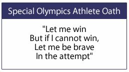 Special Olympics Oath