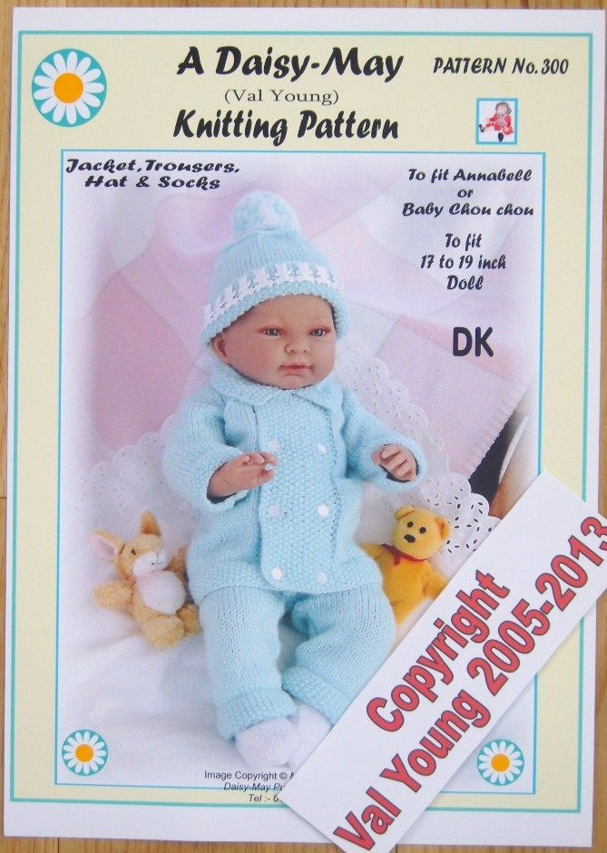 3.2 GBP - 1 Dolls Knitting Pattern By Daisy-May No.300 For A 17\