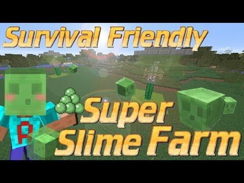 How To Make A Slime Farm In Minecraft Survival Friendly Slime Farm