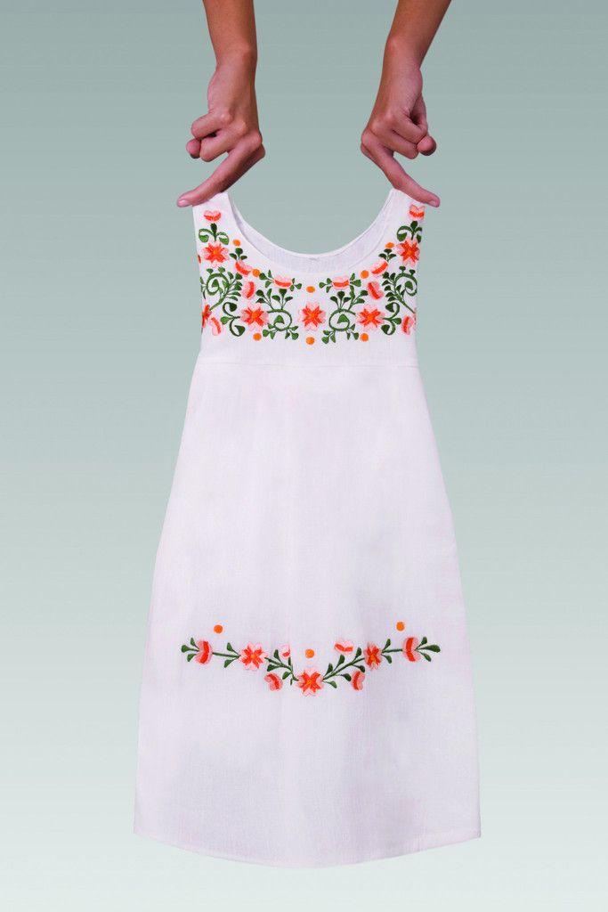 1b6ad3ef1 Vestido grande para niña de mantha diseño flores naranja | Vestidos ...
