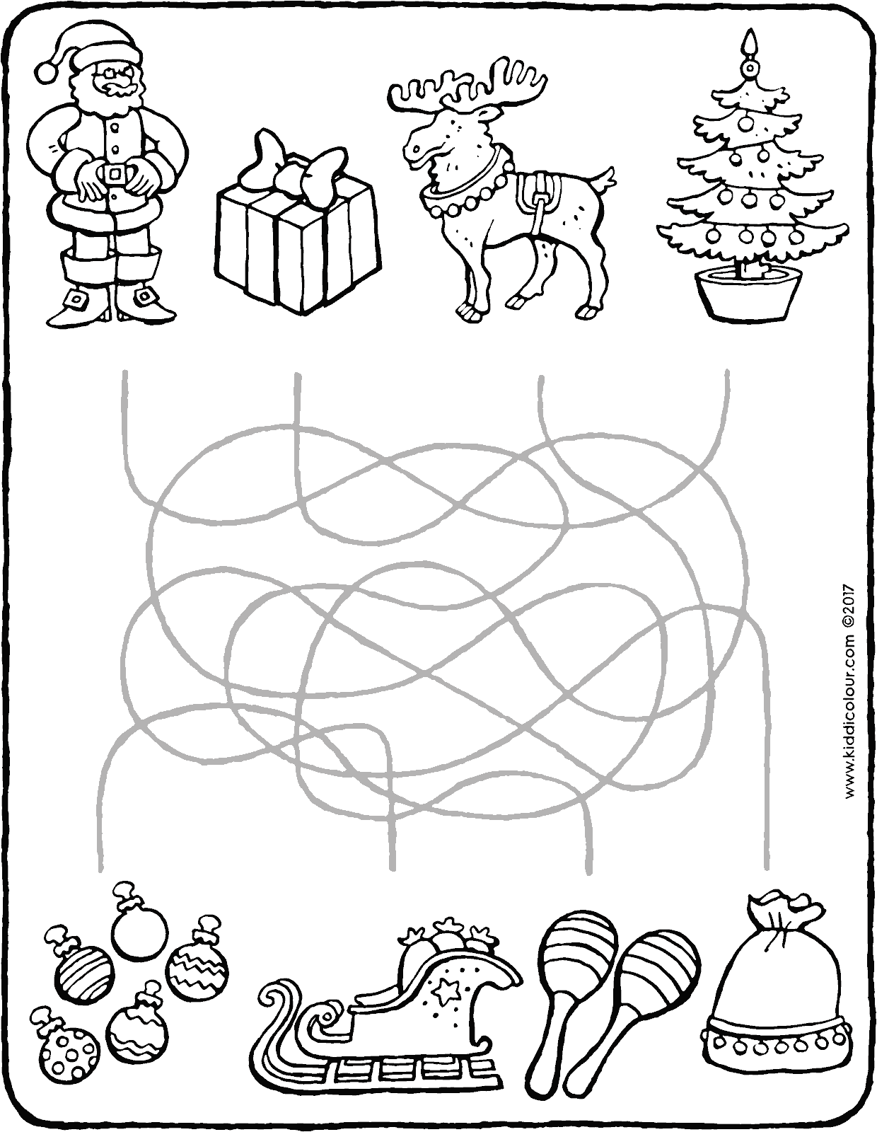 New Father Christmas Colouring Pages Coloring