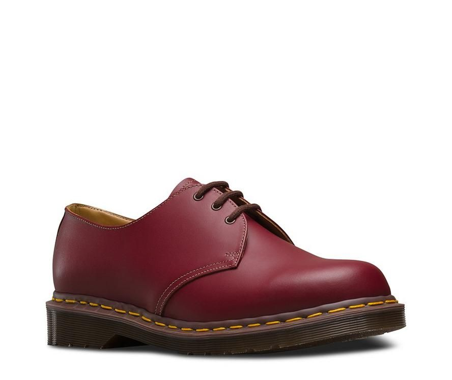 93 Discount Dr.Martens Dr Martens 1461 Cherry Red Smooth Red