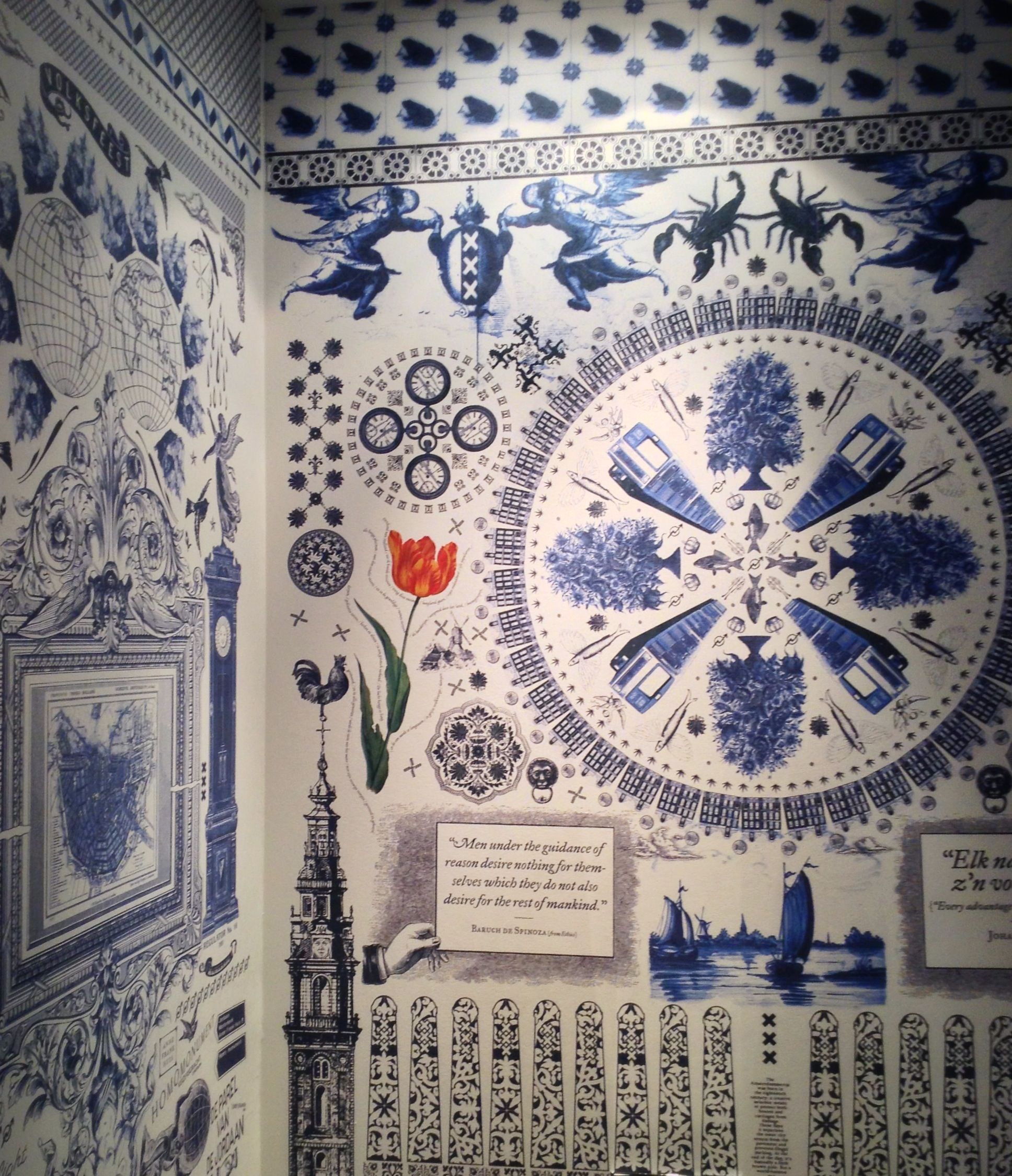Vloertegels Badkamer Delft Delft Blue Holland Wallpaper Delft Blue Wallpaper