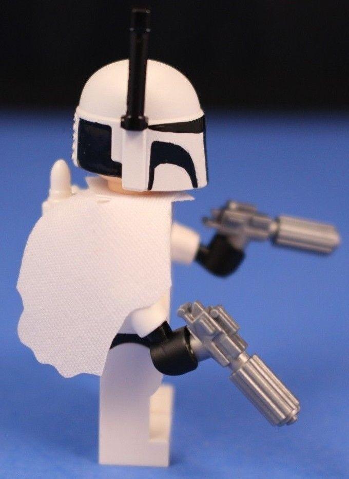 Lego® Brick Star Wars™ Custom White Death Watch Commando 2 Silver Blasters   eBay