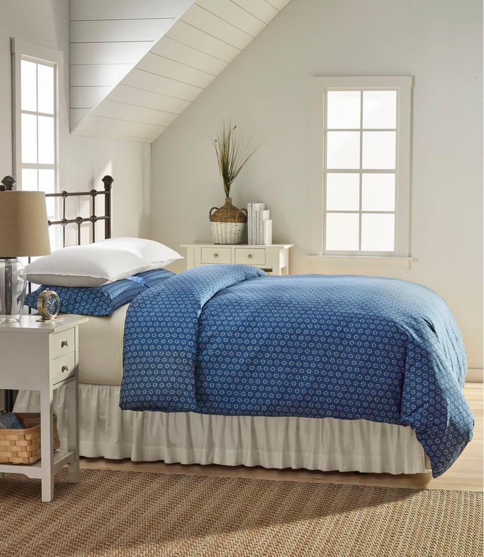 Sunwashed Percale Comforter Cover, Print Comforter cover