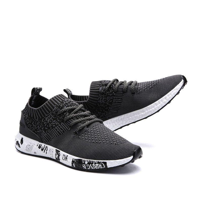 Tissu Hommes Lacer Chaussures De Course Occasionnels M7YZODXh