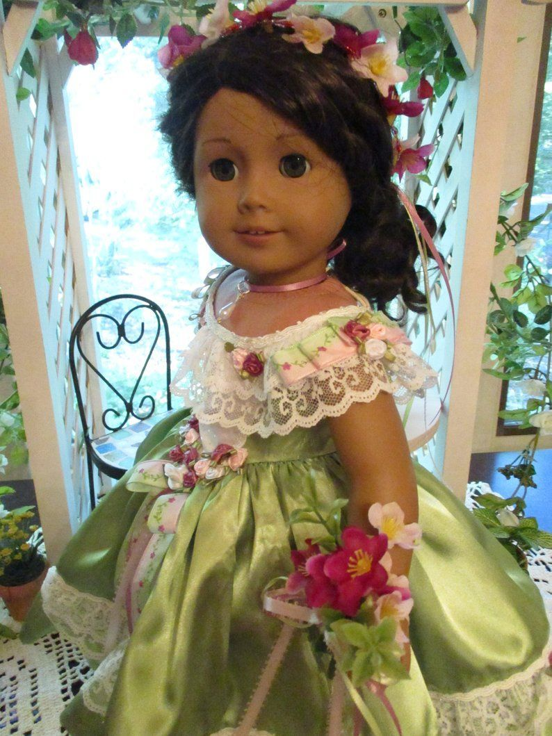 RESERVED FOR NANCY Southern Belle Historic Doll Dress to fit your 18 American Girl Doll from Civil War Era #dressesfromthesouthernbelleera RESERVED FOR NANCY Southern Belle Historic Doll Dress to fit   Etsy   by Emmakate0 #dressesfromthesouthernbelleera
